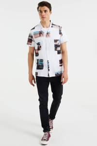 WE Fashion regular fit overhemd met all over print white uni, White Uni