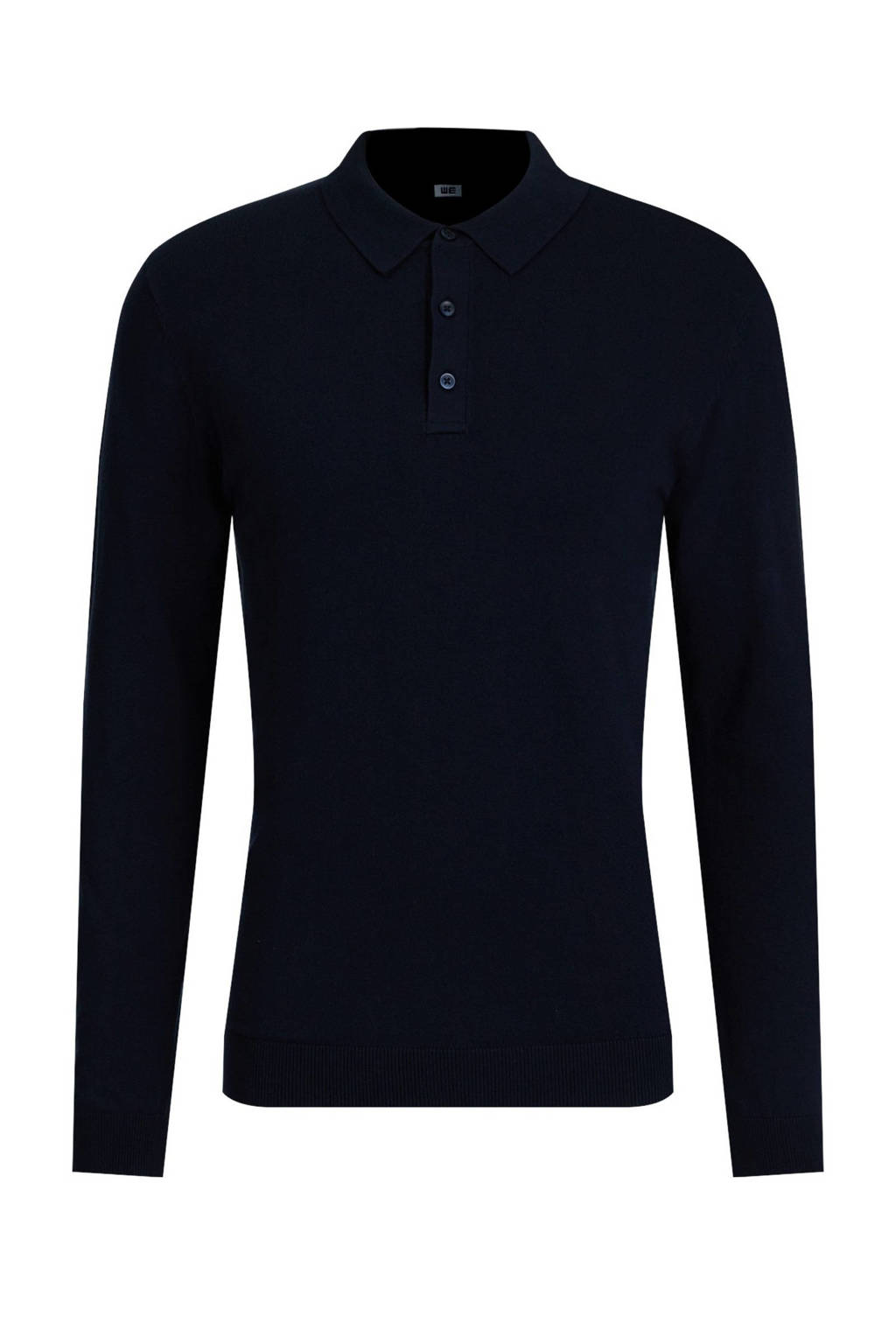 WE Fashion Fundamentals slim fit polo donkerblauw, Donkerblauw