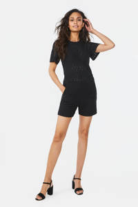 WE Fashion top met open detail zwart, Zwart
