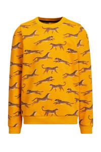 WE Fashion sweater Ginney met all over print geel, Geel
