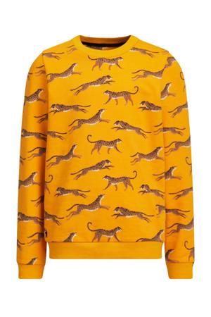 sweater Ginney met all over print geel