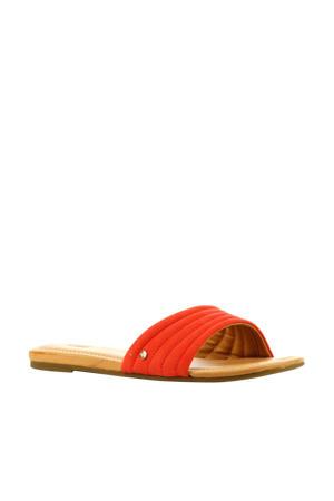Jurupa  suède slippers koraalrood