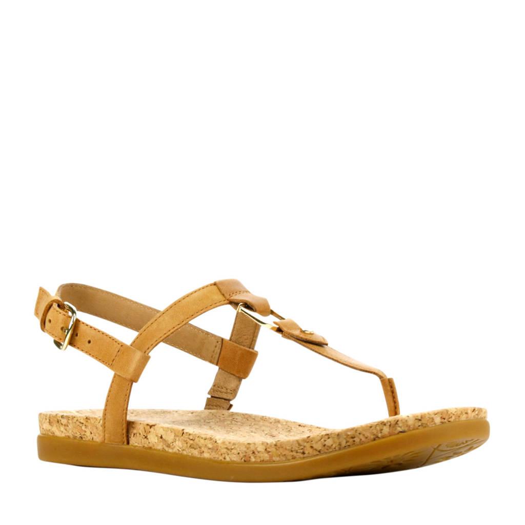 UGG Aleigh  leren sandalen bruin, Lichtbruin
