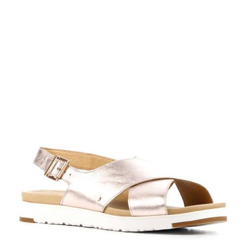 UGG Kamile Metallic leren sandalen ros??goud