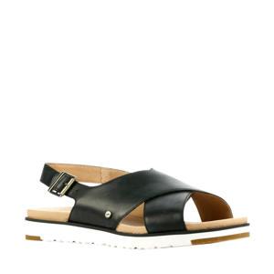 Kamile  leren sandalen zwart