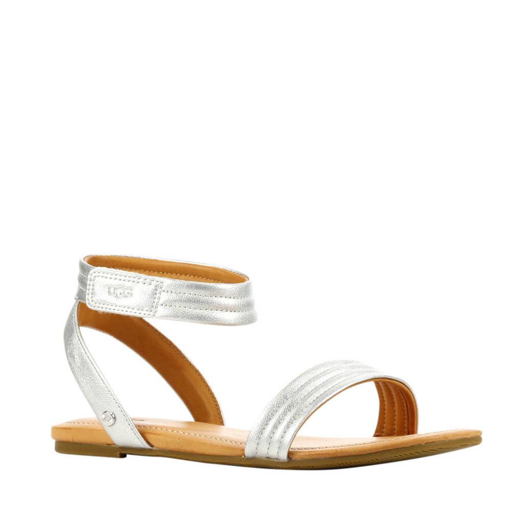 UGG Ethena  leren sandalen zilver, Zilver