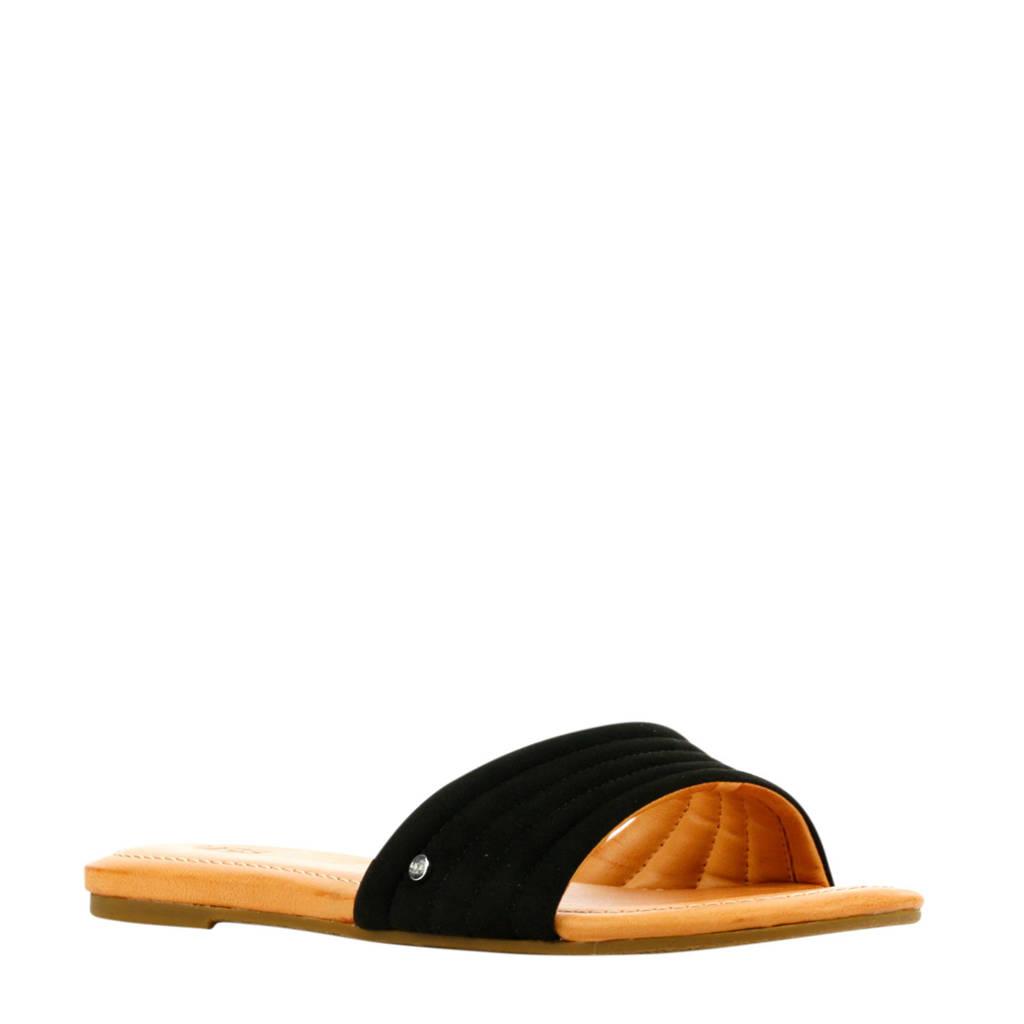 UGG Jurupa  suède slippers zwart, Zwart