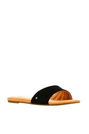 Jurupa  suède slippers zwart