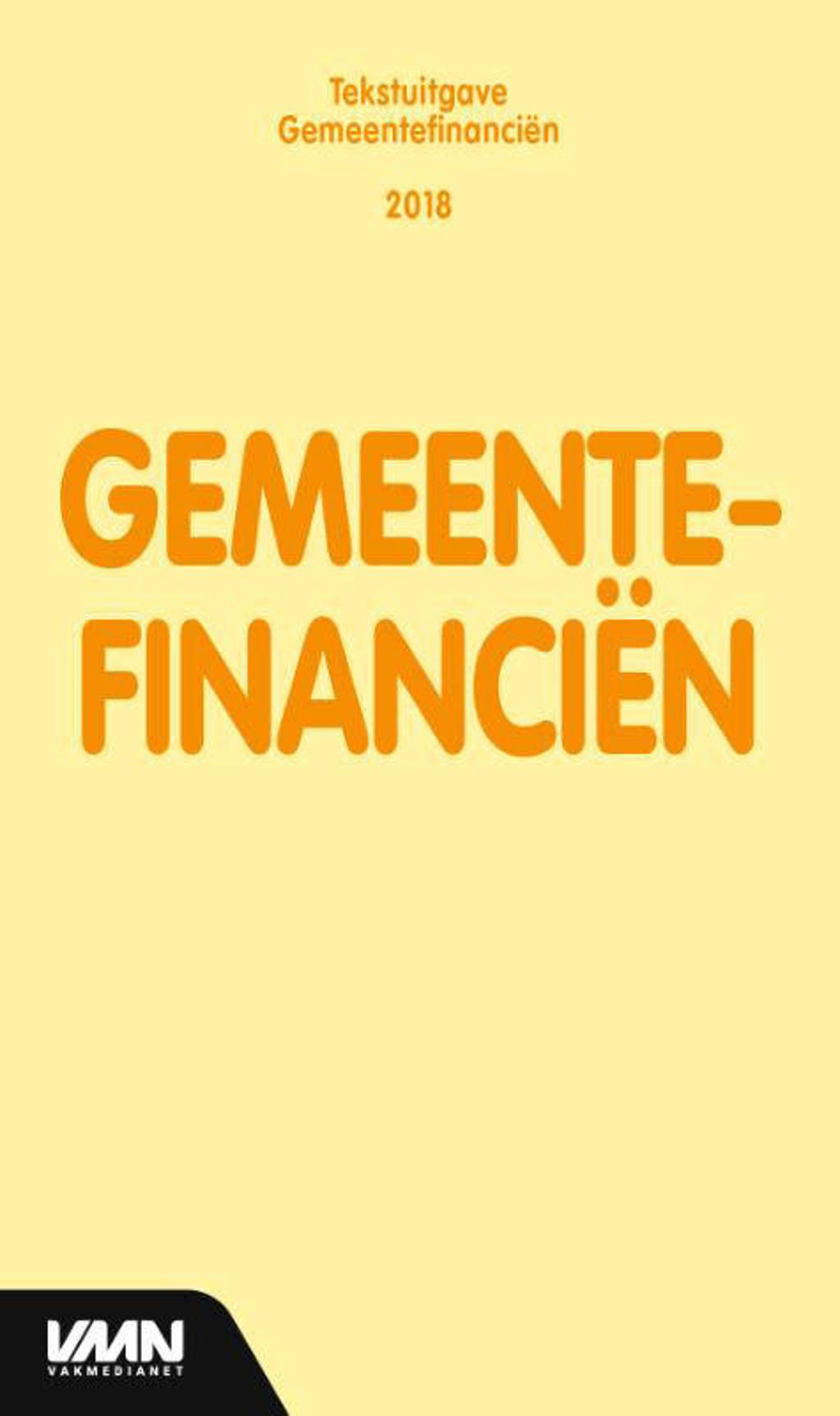 Tekstuitgave: Gemeentefinanciën 2018