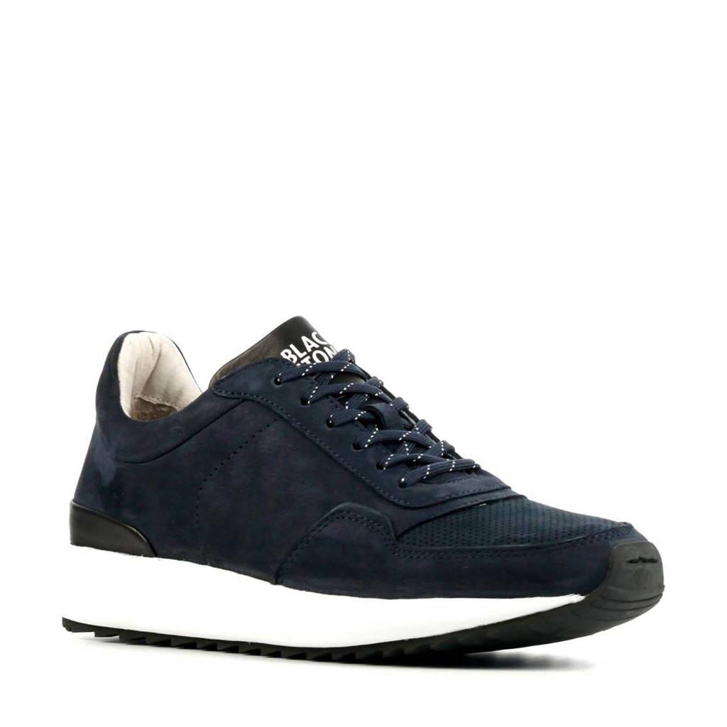 Blackstone TG02  nubuck sneakers donkerblauw, Donkerblauw