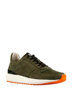 TG02  nubuck sneakers donkergroen