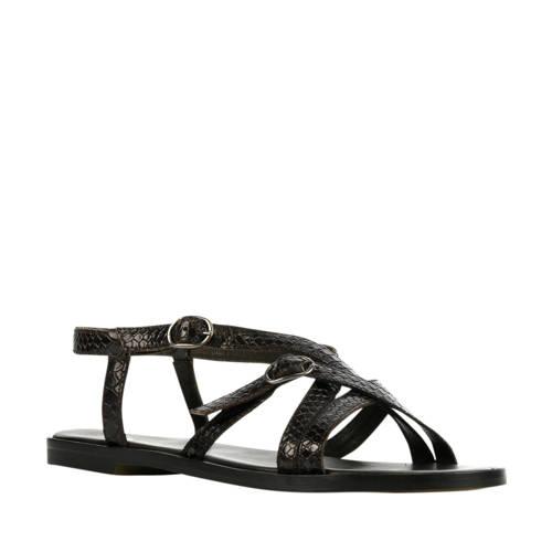 Via Vai 5402025 leren sandalen donkerbruin