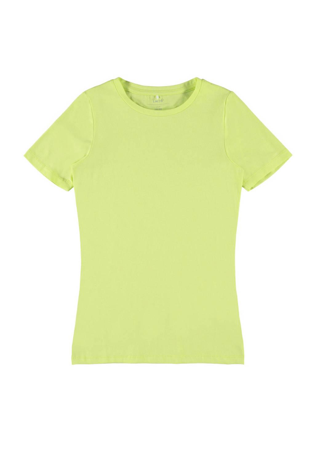 LMTD T-shirt Hannah met biologisch katoen limegroen, Limegroen