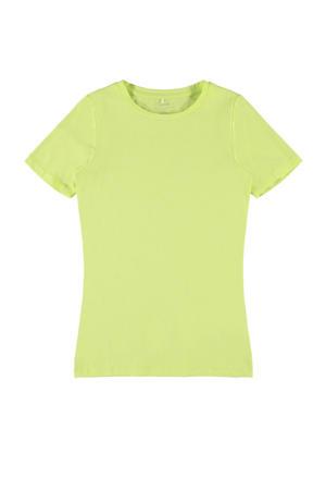 T-shirt Hannah met biologisch katoen limegroen