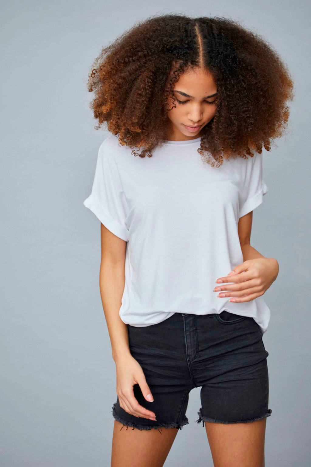 LMTD jeans short Siw zwart, Zwart