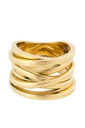 Coil ring goudkleurig