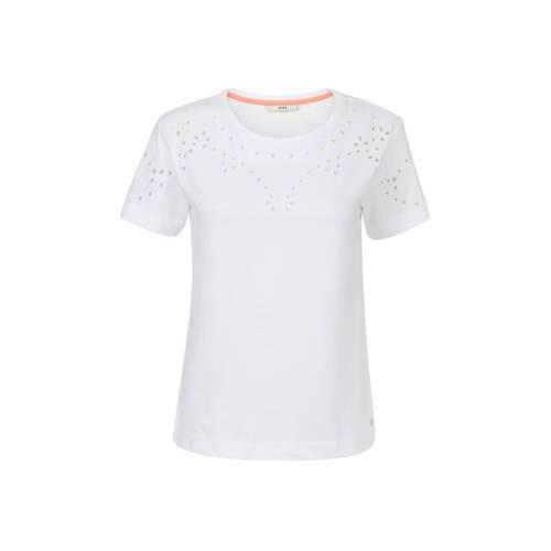 Steps T-shirt met borduursels wit
