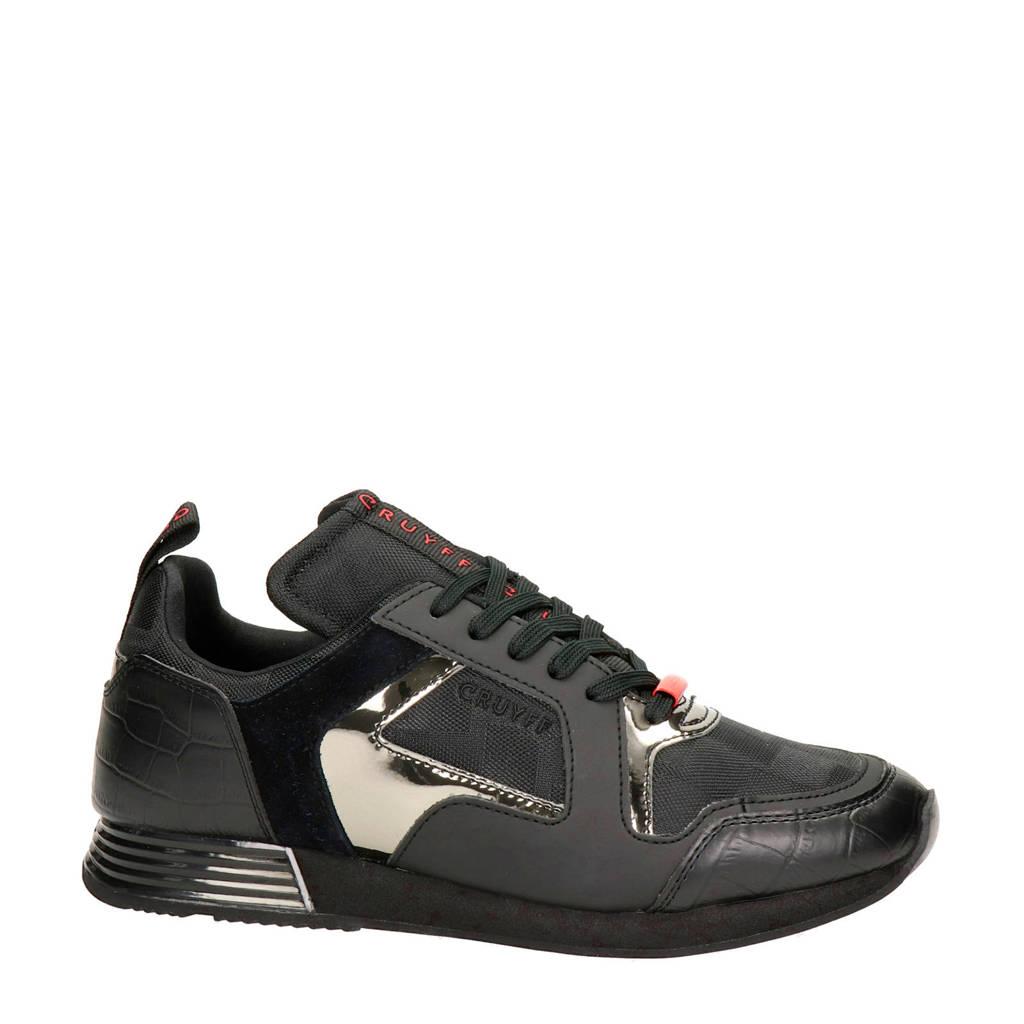Cruyff Lusso  sneakers zwart/rood, Zwart/rood