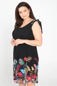 Paprika jurk met printopdruk zwart, Zwart