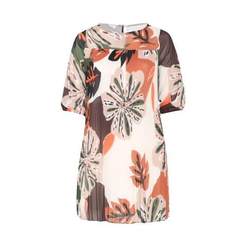 Paprika jurk met all over print multi