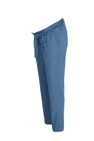 low waist slim fit zwangerschapsbroek blauw