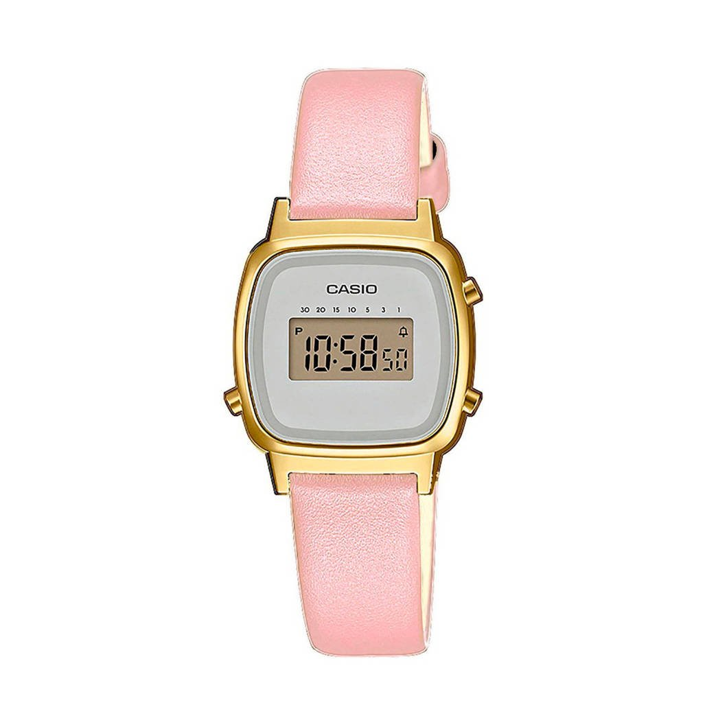 Casio horloge LA670WEFL-4A2EF roze, Roze