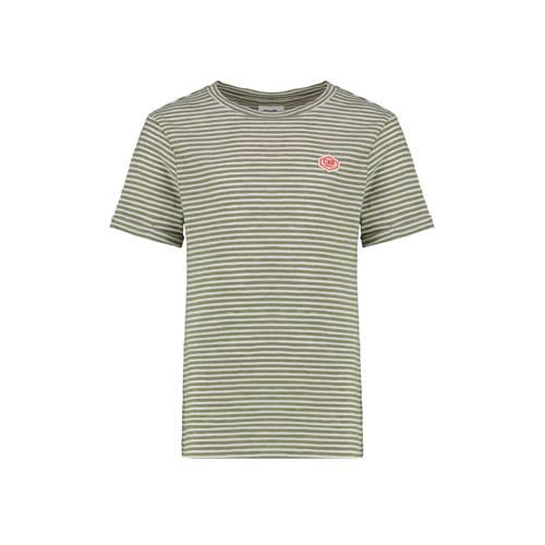CKS KIDS gestreept T-shirt Yalexi kaki
