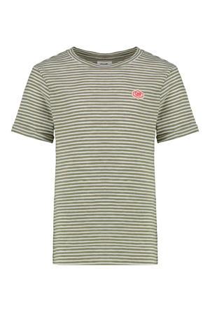 gestreept T-shirt Yalexi kaki