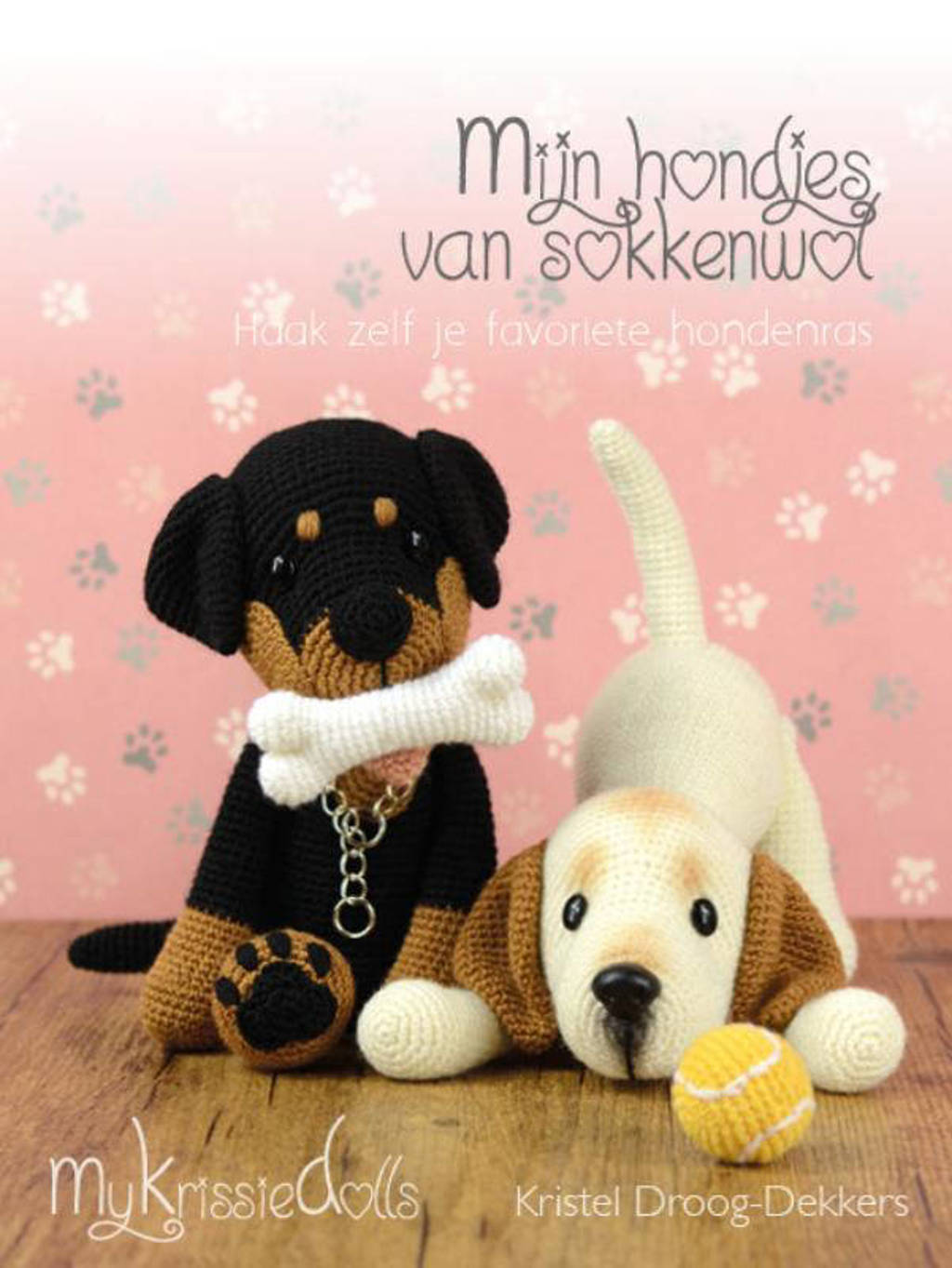 Mijn hondjes van sokkenwol - Kristel Droog-Dekkers