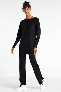 anytime fijngebreide tuniek-trui zwart, Zwart