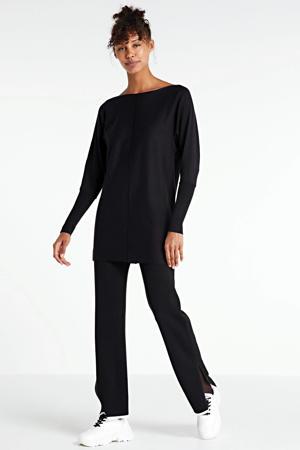 fijngebreide tuniek-trui zwart