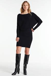 anytime gebreide jurk zwart, Zwart