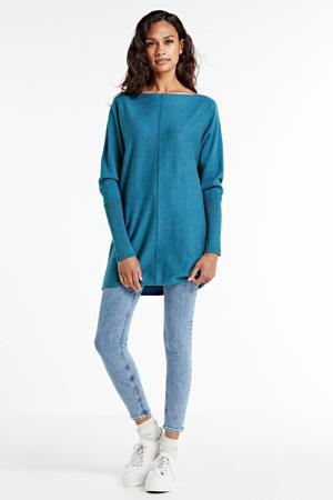 fijngebreide tuniek-trui blauw