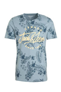 JACK & JONES ORIGINALS T-shirt met tekst blauw, Blauw