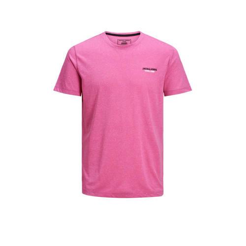 JACK & JONES CORE gem??leerd T-shirt roze/zwar