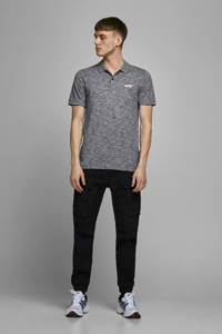 JACK & JONES CORE gemêleerde slim fit polo marine, Marine
