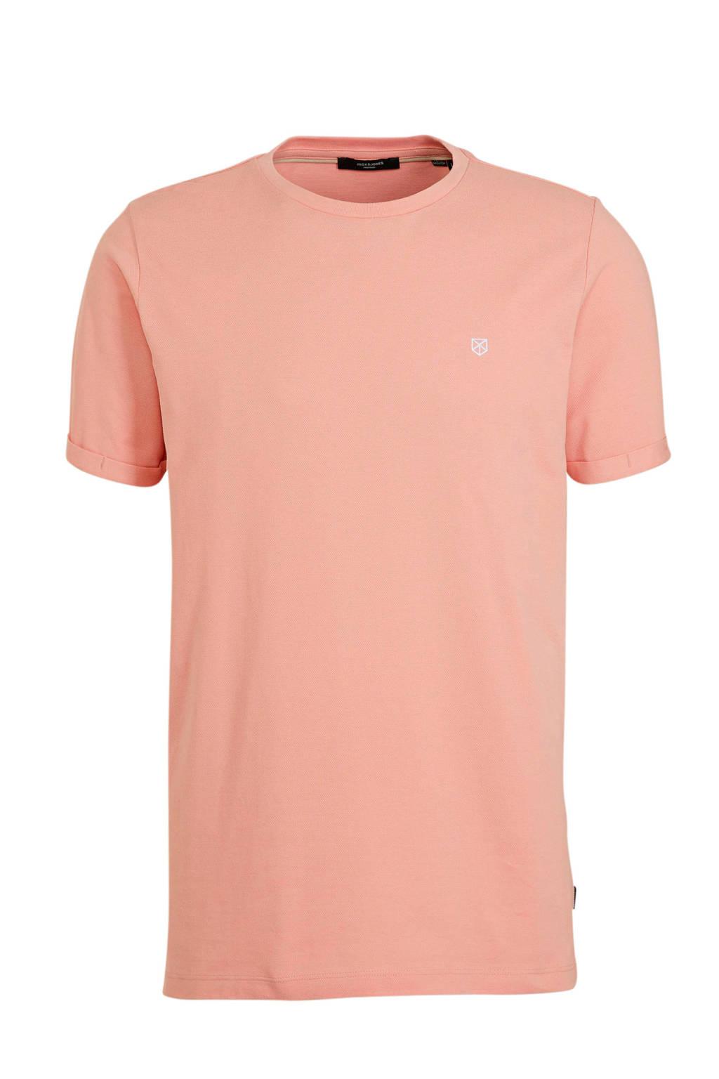 JACK & JONES PREMIUM T-shirt met logo zalm, Zalm
