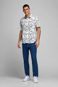JACK & JONES ORIGINALS regular fit overhemd met all over print wit/zwart, Wit/zwart