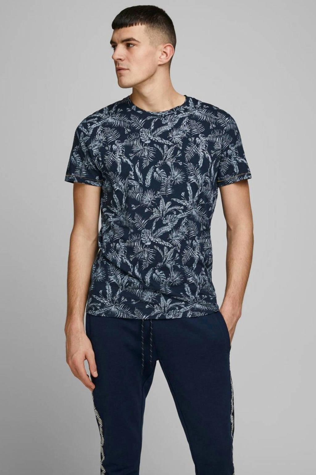 JACK & JONES ORIGINALS T-shirt van biologisch katoen donkerblauw, Donkerblauw