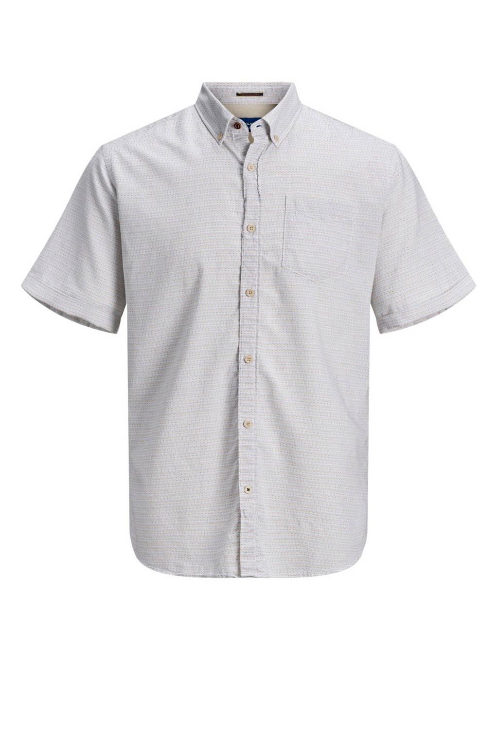 JACK & JONES ORIGINALS regular fit overhemd van biologisch katoen grijs, Grijs