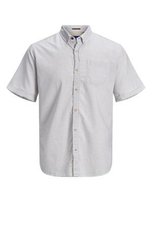 regular fit overhemd van biologisch katoen grijs