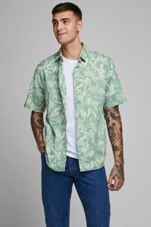 regular fit overhemd met all over print groen
