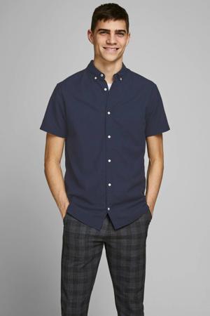 regular fit overhemd met linnen marine