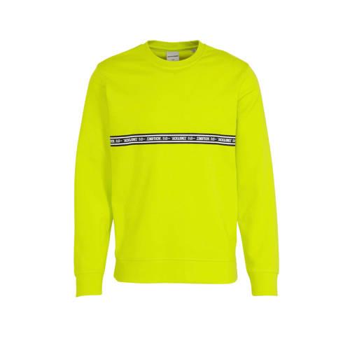 JACK & JONES CORE sweater Toffee met logo sulp