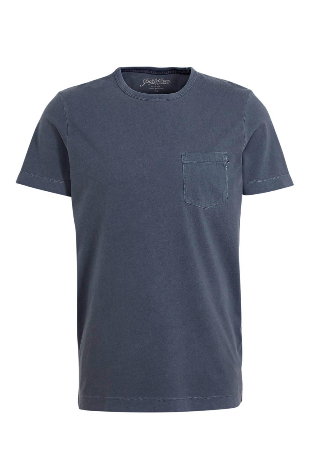 JACK & JONES ESSENTIALS T-shirt blauw, Blauw
