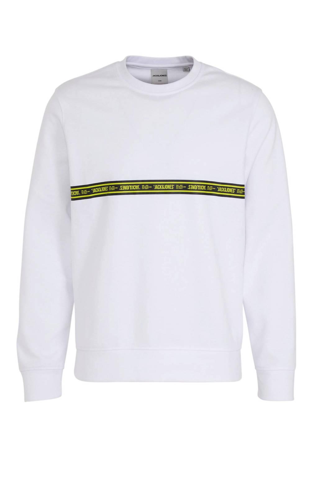 JACK & JONES CORE sweaterToffee met logo wit, Wit