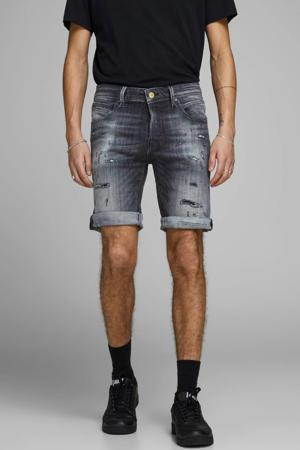 slim fit jeans short GRIDD black denim