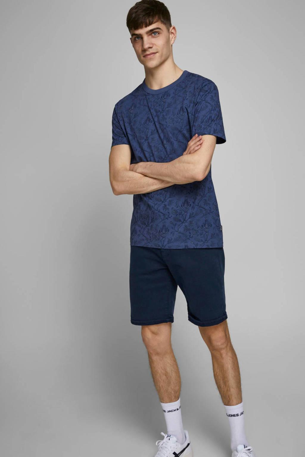JACK & JONES JEANS INTELLIGENCE slim fit jeans short Navy Blazer