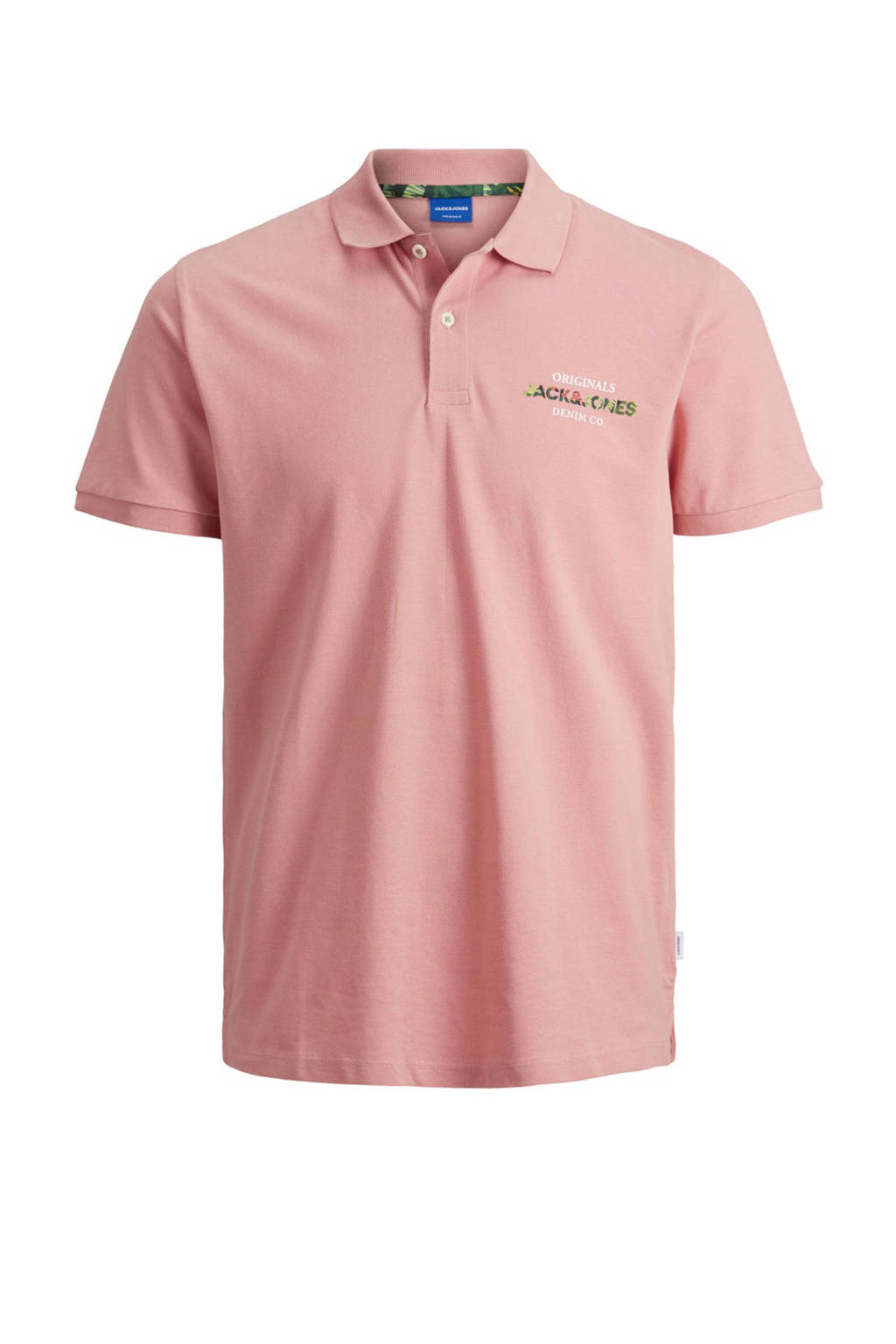 JACK & JONES ORIGINALS slim fit polo roze, Roze