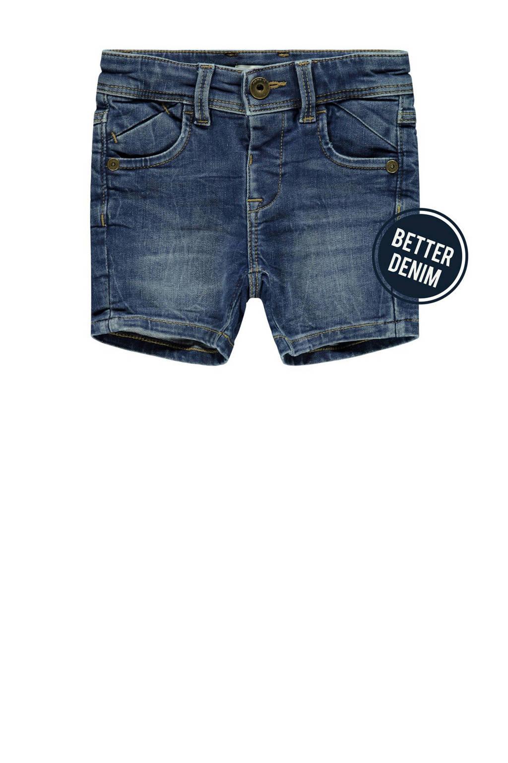 NAME IT MINI jeans bermuda Ryan met biologisch katoen stonewashed, Stonewashed